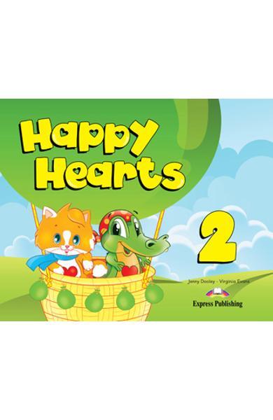 Curs limba engleză Happy Hearts 2 Pachetul elevului (manualul elevului, multirom, fisa de lucru)