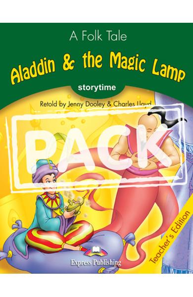 Pachetul profesorului - Aladdin and the Magic Lamp ( TB + Multi-Rom )