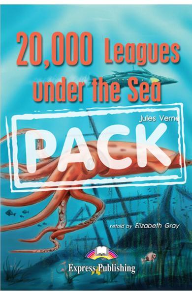 Literatura adaptata pt.copii - 20,000 Leagues Under the Sea - SET: Carte + AUDIO CD + Caiet de activitati 978-1-84216-180-7