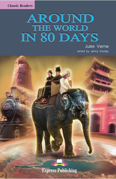 Literatură adaptată pt. copii around the world in 80 days (set cu cd)