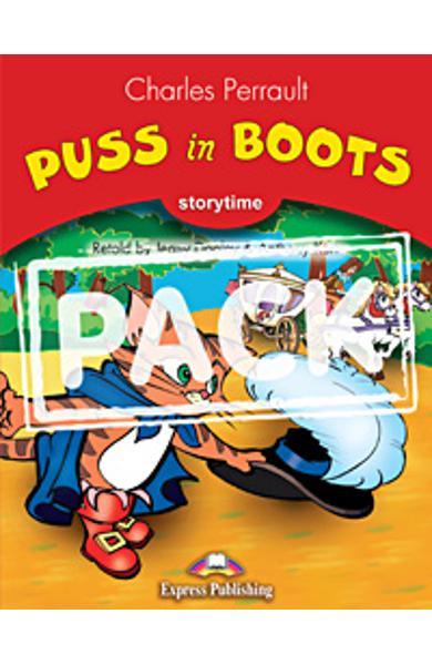 Literatura adaptata pt. copii Puss in Boots set cu multi-rom (carte + multi-rom)