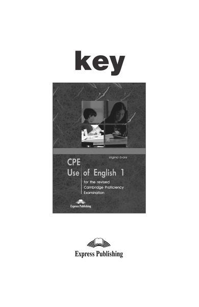 Teste lb. engleză - CPE Use of English 1 răspunsuri