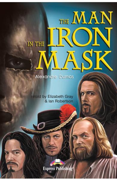 Literatură adaptată pentru copii The Man in the Iron Mask Pachetul elevului (carte + audio CD + caiet de activități) 978-1-84325-924-4