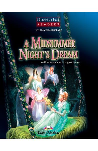 Literatură adaptată pentru copii benzi desenate A Midsummer Night's Dream cartea cu CD