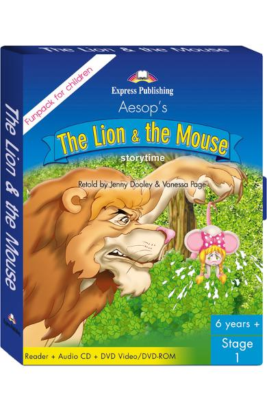 LITERATURA ADAPTATA PT. COPII THE LION AND THE MOUSE FUNPACK ( CARTE + AUDIO CD + DVD ) 978-1-84558-502-0