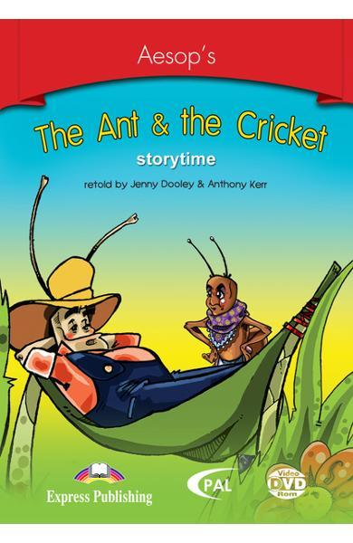 LITERATURA ADAPTATA PT. COPII THE ANT AND THE CRICKET DVD ROM 978-1-84558-245-6