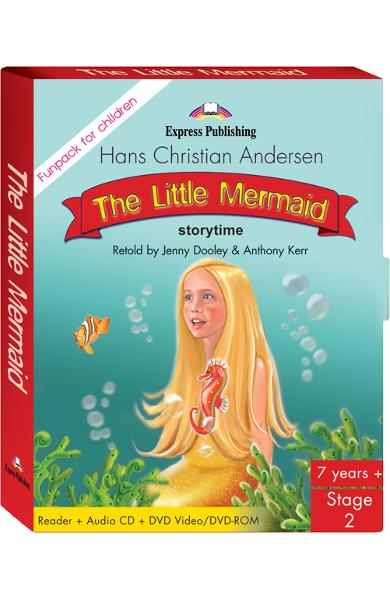 LITERATURA ADAPTATA PT. COPII THE LITTLE MERMAID FUNPACK ( CARTE + AUDIO CD + DVD ) 978-1-84558-605-8