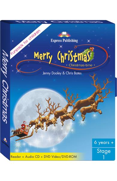 LITERATURA ADAPTATA PT. COPII MERRY CHRISTMAS FUNPACK ( CARTE + AUDIO CD + DVD ) 978-1-84679-163-5