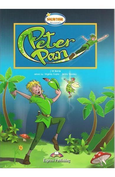 Literatură adaptată pentru copii Peter Pan cu cross-platform app.