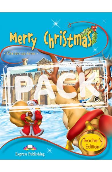 Literatura adaptata pt.copii - Merry Christmas - Pachetul profesorului: Carte + AUDIO CD 978-1-84325-684-7