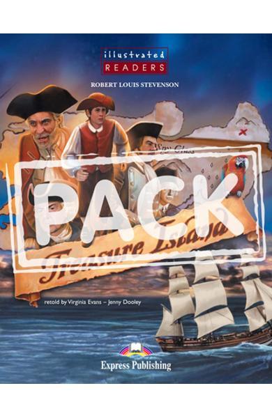 LITERATURA ADAPTATA PT. COPII BENZI DESENATE TREASURE ISLAND SET CU AUDIO CD ( CARTE + AUDIO CD ) 978-1-84679-130-7