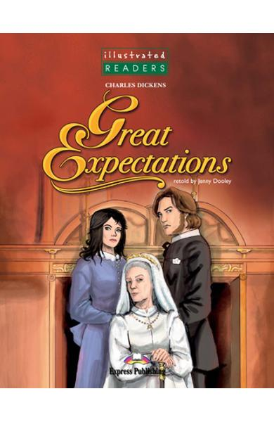 LITERATURA ADAPTATA PT. COPII BENZI DESENATE GREAT EXPECTATIONS SET CU CD ( CARTE + AUDIO CD ) 978-1-84679-438-4