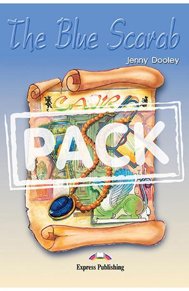 Literatura adaptata pentru copii The Blue Scarab set cu audio CD