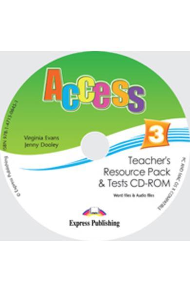 CURS LB. ENGLEZA ACCESS 3 MATERIAL ADITIONAL PT. PROFESOR CD-ROM CU TESTE 978-1-4715-0645-1