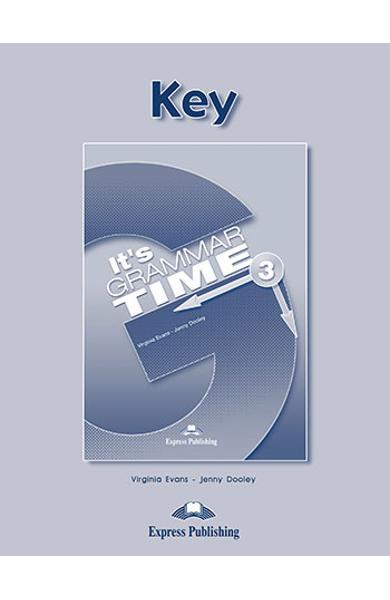 Curs de gramatică limba engleză It's Grammar Time 3 Cheie la manual