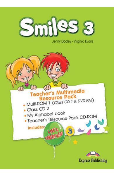 Curs Lb. Engleza Smiles 3 Material aditional pentru profesor Pachet Multimedia (SET OF 4) 978-1-78098-750-7