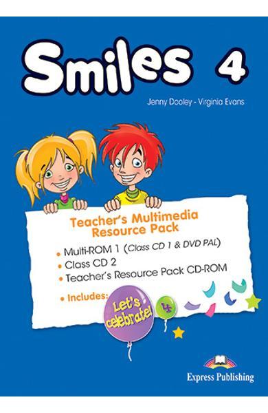 Curs limba engleza Smiles 4 Material aditional ptr. profesor Pachet Multimedia