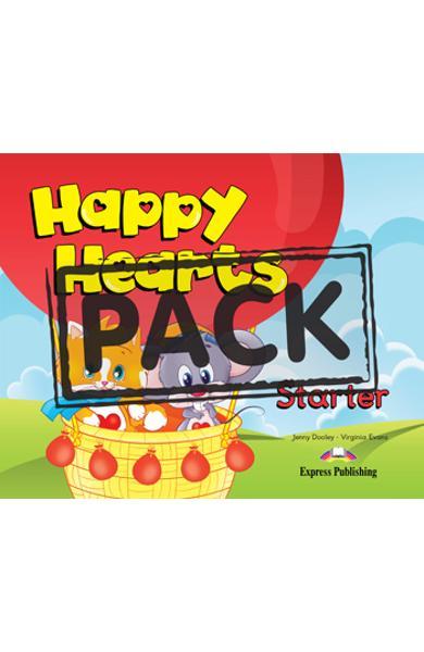 Curs limba Engleza - Happy Hearts Starter - Pachetul elevului 2 ( manual elev + MULTI-ROM + figurine de carton + abtipilduri) 978-1-4715-0731-1