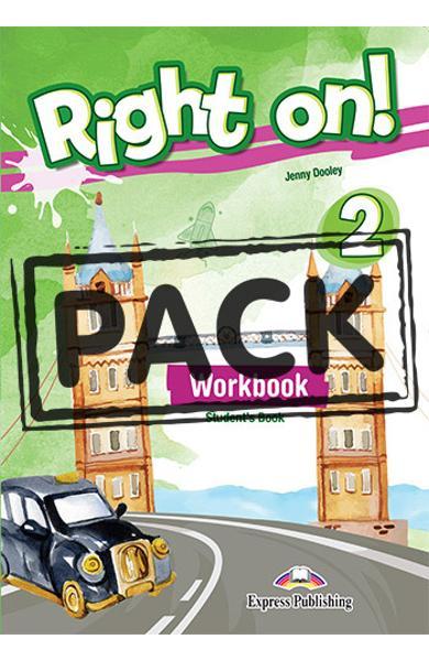 Curs limba engleza Right On 2 Caietul elevului + Digibooks App. 978-1-4715-6663-9