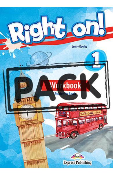 Curs limba engleza Right On 1 Caietul elevului + Digibooks App.