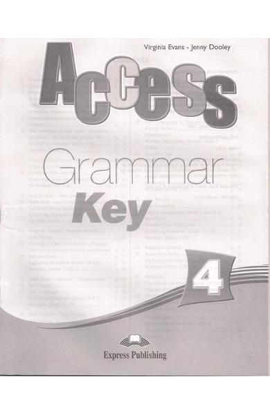 Curs limba engleză Access 4 Cheie la gramatică