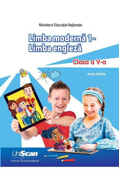LIMBA MODERNA 1 - LIMBA ENGLEZA - CLASA A V-A MANUAL ELEV + MANUAL DIGITAL 200-0-00001-185-1