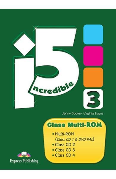 CURS LB. ENGLEZA INCREDIBLE 5 3 CLASS MULTI-ROM (CLASS CD + DVD) 978-1-4715-1185-1
