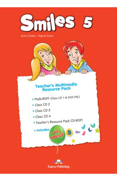 CURS LB. ENGLEZA SMILES 5 MATERIAL ADITIONAL PENTRU PROFESOR ( MANUAL PROFESOR  CD-ROM + MULTI-ROM + CLASS CD + MY ALPHABET BOOK CD) (SET OF 5) 978-1-4715-5535-0