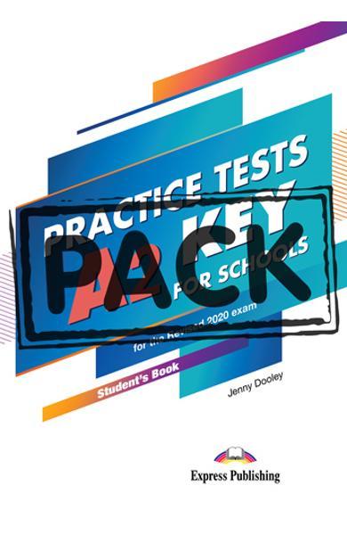 Curs limba engleza examen Cambridge  A2 Key for Schools Practice Tests Manualul elevului cu digibooks APP. (revizuit 2020) 978-1-4715-8532-6