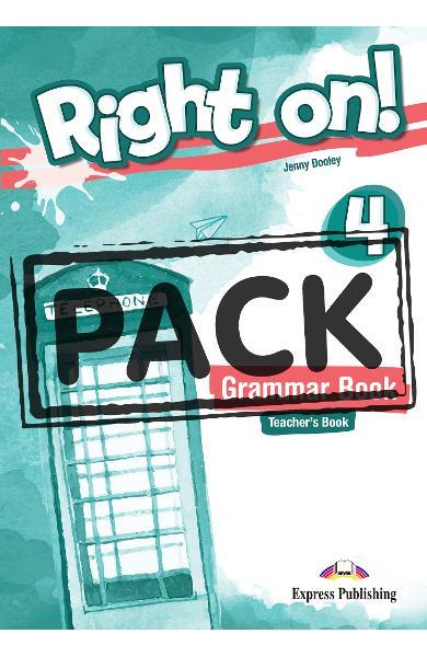 Curs limba engleza Right On 4 Manualul profesorului la gramatica cu Digigibook App. 978-1-4715-6937-1